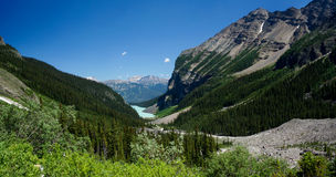 Lake Agnes Trail at Lake Louise in Banff National Park Royalty Free Stock Image