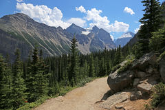 Lake Agnes Trail Royalty Free Stock Images