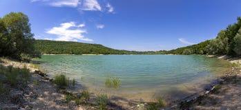 Lake Ain near village Baresia in the french Jura region. France royalty free stock photos