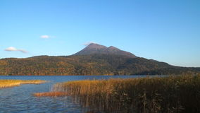 Lake Akan in Hokkaido, Japan. Lake Akan Home to Ainu culture in Hokkaido, Japan stock video
