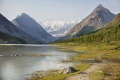 Lake Akkem and Beluha Mountain. Altai. Russia Royalty Free Stock Photography