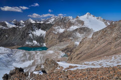 Lake in Ala Archa in Kyrgyzstan Stock Images