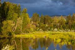 Lake on Alaska Royalty Free Stock Photography