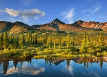 Lake on Alaska. Serenity lake in tundra on Alaska stock image