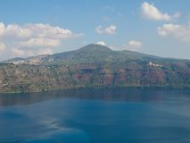 Lake Albano near Rome. Beautiful lake Albano near Rome in Italy Royalty Free Stock Photography