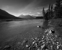 Lake in Alberta Canada Royalty Free Stock Photos