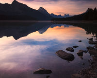 Lake in Alberta Canada Stock Image