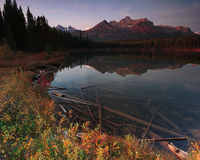 Lake in Alberta Canada Royalty Free Stock Photo