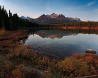 Lake in Alberta Canada Stock Photos