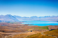 Lake Alexandrina seen from Mount John Stock Image