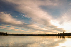 Lake in Algonquin Park Clouds Royalty Free Stock Photography