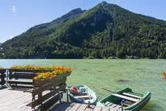 Lake of Alleghe Stock Photos