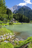 Lake of Alleghe Stock Photography