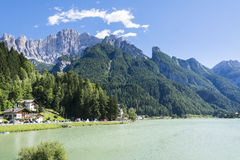 Lake of Alleghe Royalty Free Stock Photography