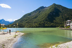 Lake of Alleghe Royalty Free Stock Photos