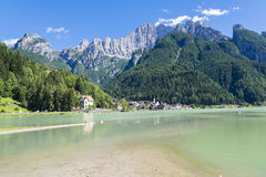 Lake of Alleghe Stock Images