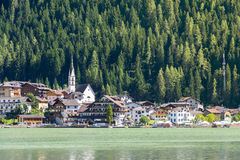 Lake of Alleghe Royalty Free Stock Image