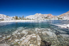 Lake Aloha in Desolation Wilderness. Lake Aloha is a glacial basin found Desolation Wilderness, high in the Sierra Nevada mountains of eastern California Royalty Free Stock Images