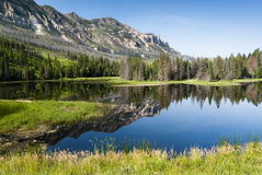 Lake along Chief Joseph Scenic Byway Stock Photography