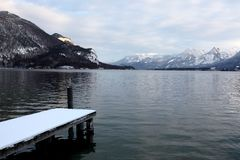 Lake of Alpine, Austria Royalty Free Stock Photography