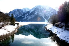 Lake of Alpine, Austria Stock Photo