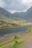 Lake in Alpine mountains Royalty Free Stock Photography