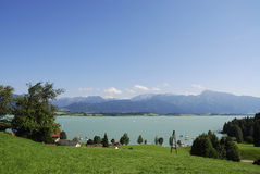 Lake in the Alps Royalty Free Stock Photos
