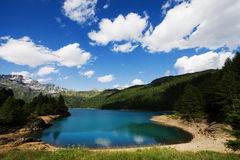 Lake on the alps Royalty Free Stock Image