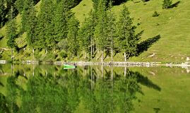 Lake in the Alps Royalty Free Stock Images