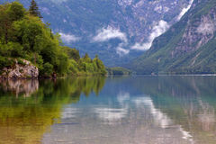 The lake in Alps Stock Images
