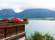 Lake in alps Royalty Free Stock Photos