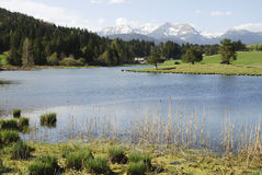 Lake In The Alps Stock Image