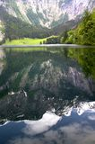 The lake in the Alps. The Lonigsee lake in the Alps, Germany Royalty Free Stock Photo