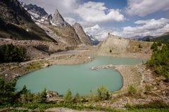 Lake in the Alps Lago del Miage royalty free stock photos