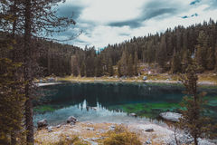 Lake in the Alps Stock Photos