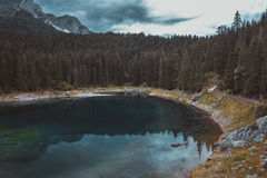 Lake in the Alps Stock Images