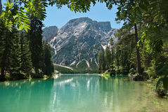 Lake in the alps mountains Royalty Free Stock Photos