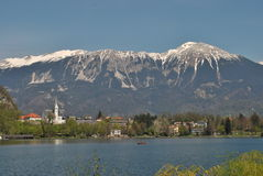 The lake and the alps Stock Photos