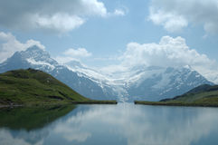 Lake in Alps. Lake somewhere in Alps in Switzerland Stock Images