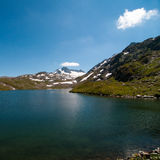The lake in the Alps Royalty Free Stock Photography
