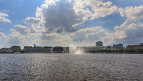 Lake Alster in Hamburg Royalty Free Stock Photos
