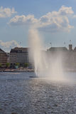 Lake Alster in Hamburg Stock Photo