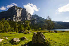 Lake Altaussee in early autumn, Austria Stock Image