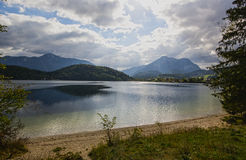Lake Altaussee in early autumn, Austria Royalty Free Stock Photo