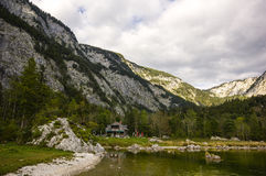 Lake Altaussee in early autumn, Austria Royalty Free Stock Photography