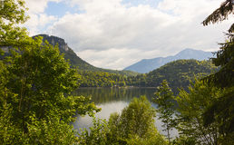 Lake Altaussee in early autumn, Austria Stock Images