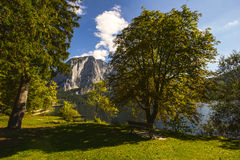 Lake Altaussee in early autumn, Austria Stock Photography