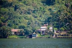 Lake Amatitlan shore scenic Royalty Free Stock Photography