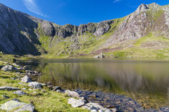 Free Lake And Mountains, Llyn Idwal And The Devil's Kitchen. Stock Photo - 71213020