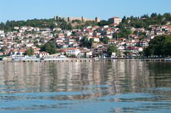 Lake And Old Ohrid, Republic Of Macedonia Royalty Free Stock Images